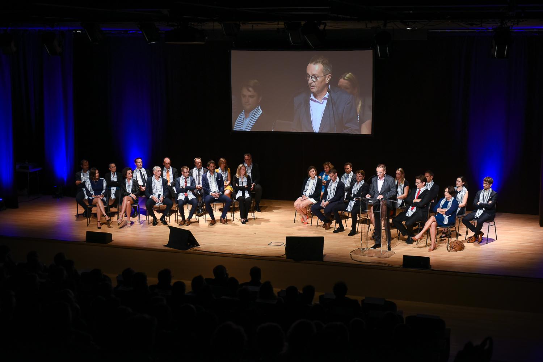 Le discours d'ouverture de la soirée par Stéphane KERDAT.