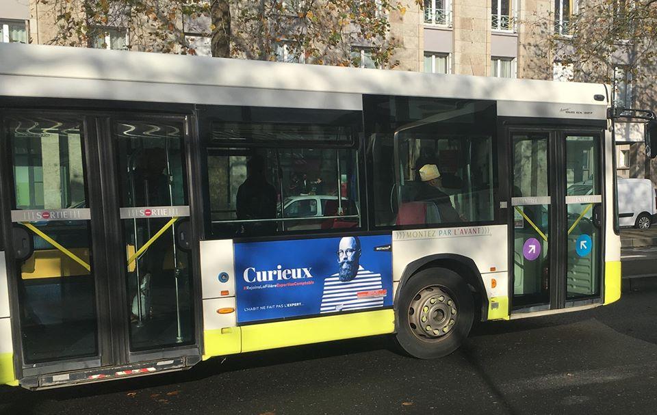 Affichage bus Expert-comptable curieux lorient
