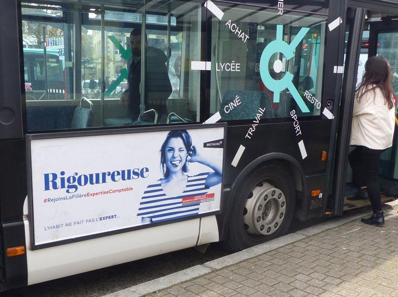 affichage bus Expert-comptable rigoureuse bretagne