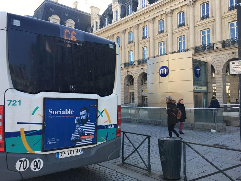 affichage bus Expert-comptable sociable rennes